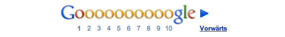Pagination auf google.de