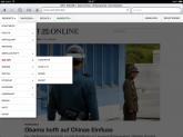 Drop Down Menü ZEIT ONLINE iPad