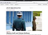 Startseite von ZEIT ONLINE auf dem iPad