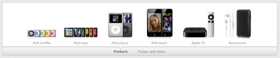 Neuer Produkt Slider auf apple.com
