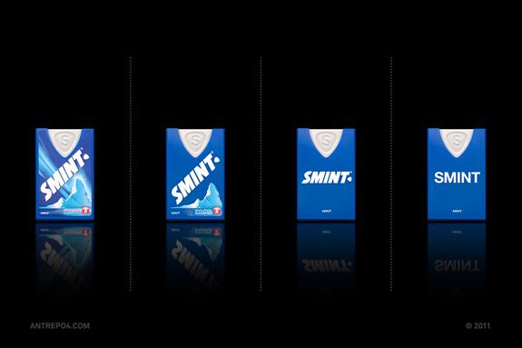 smint minimalistisches Verpackungsdesign