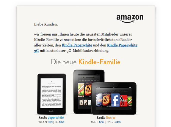 Amazon's Kindle Paperwhite available in Germany